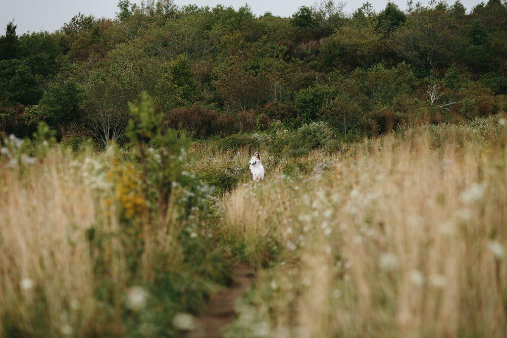 wedding in a field asheville