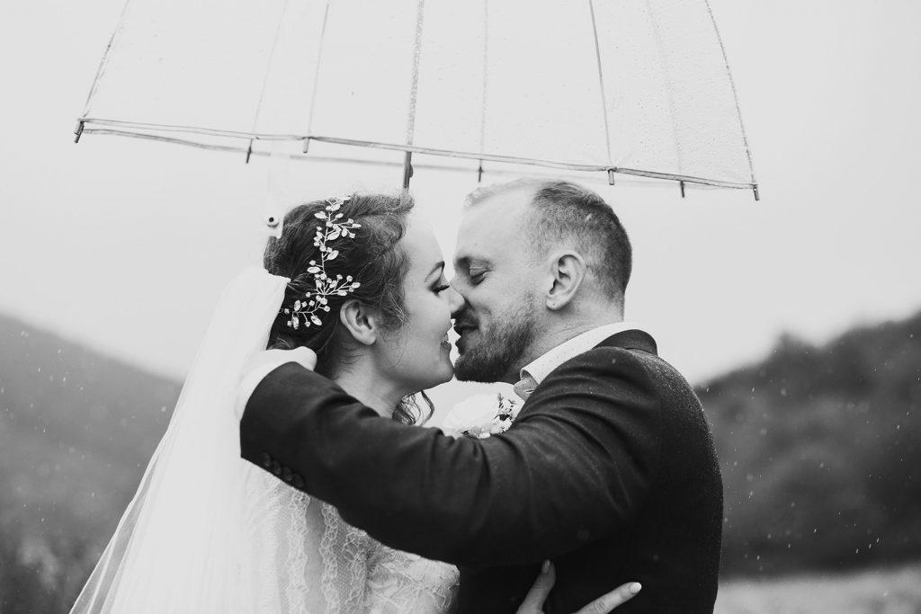 boho rainy elopement
