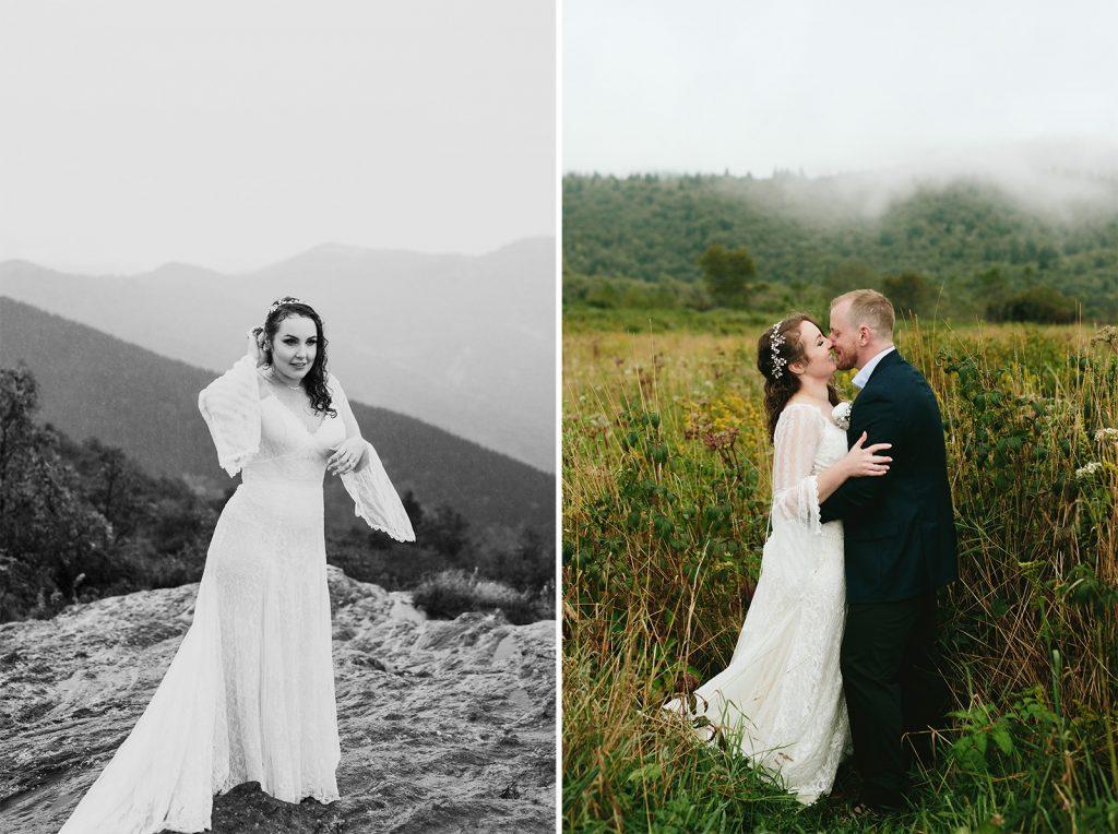rainy mountain elopement nc
