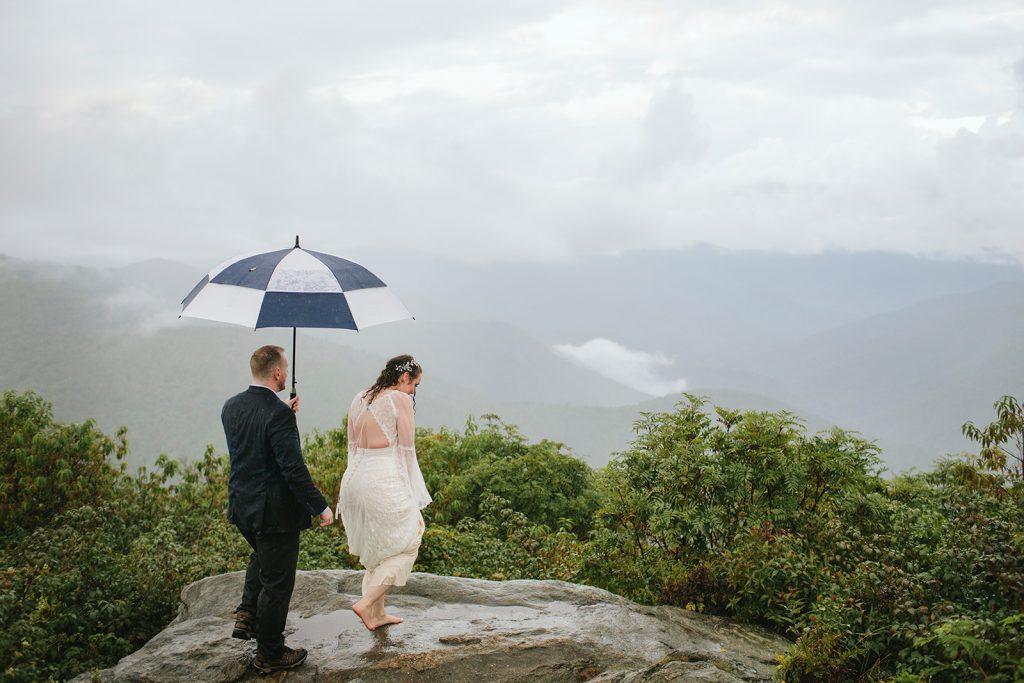 rainy mountain wedding asheville