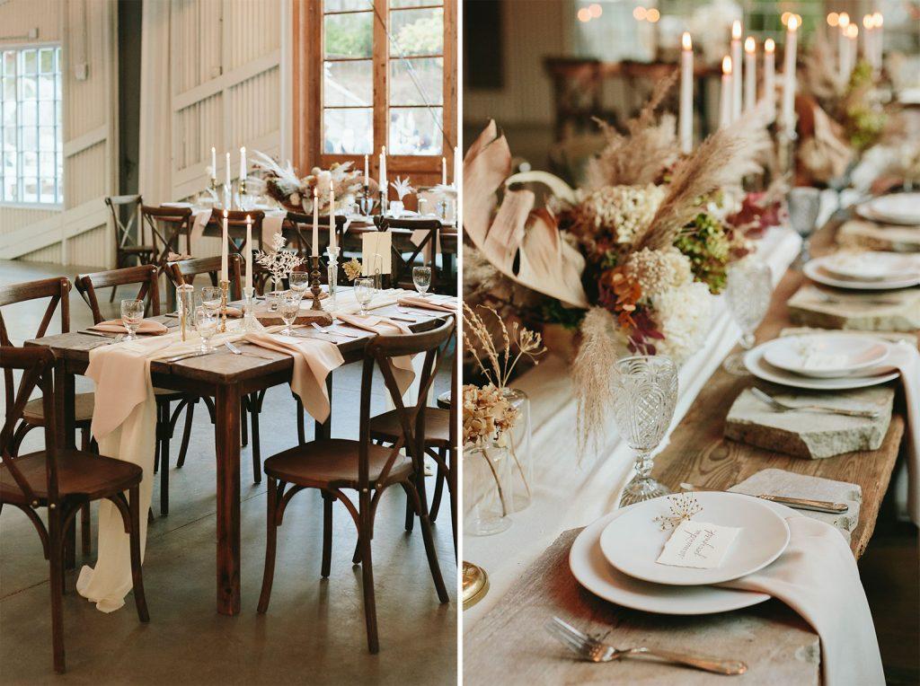 boho wedding table settings