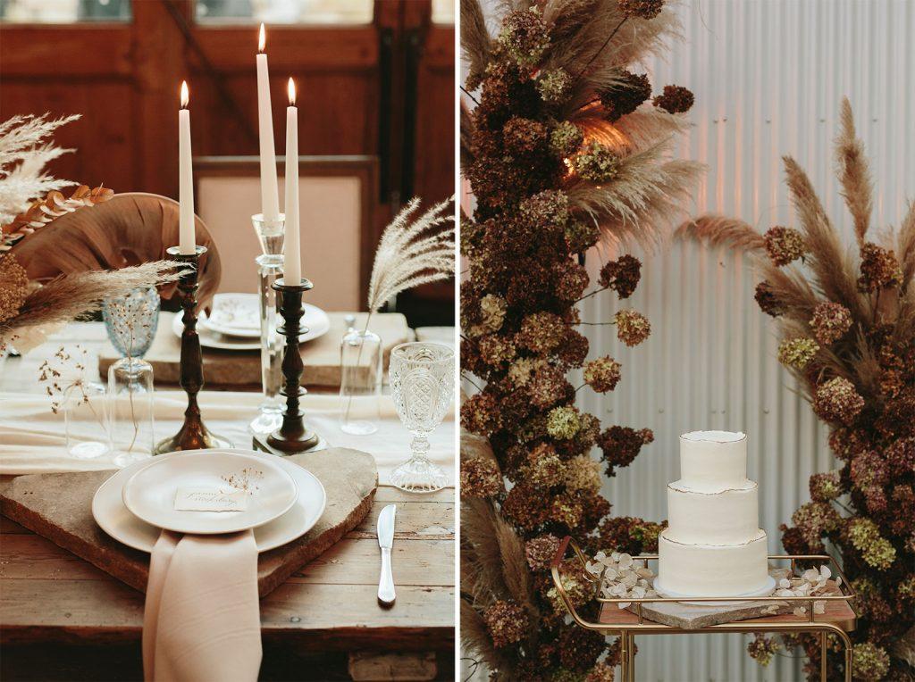 unique cake decorations dried flowers